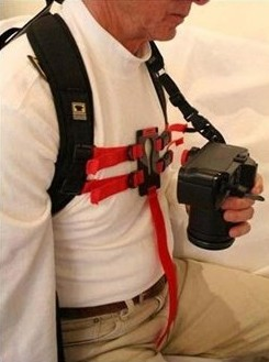 Keyhole Hands Free Camera Harness - usage example